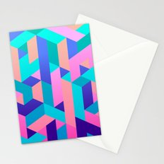 Geometric Illusion Stationery Cards