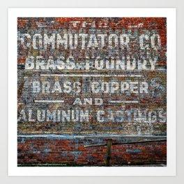 Commutator Co Brass Foundry #1 Art Print