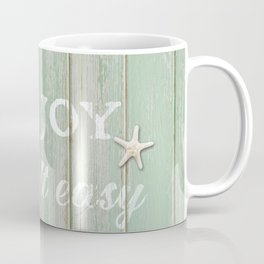 Call to Relax, on Reclaimed Wood Background Coffee Mug