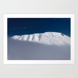 vettore mount with snow  Art Print