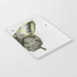 Yellow and Gray Butterfly Notebook