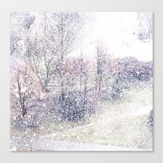 Snow in early fall(2). Canvas Print