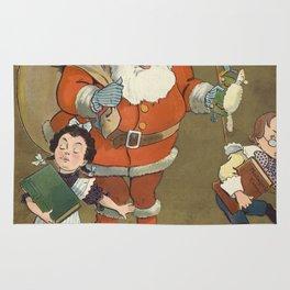 Vintage Frustrated Santa Claus Illustration (1901) Rug