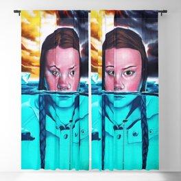 Greta Thunberg Climate Change Mural Bristol, England Blackout Curtain