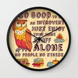 Happy introvert Wall Clock
