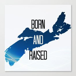 born and raised Canvas Print
