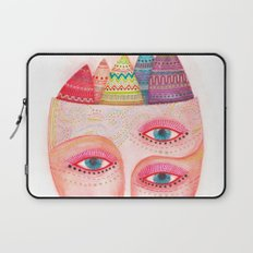girl with the most beautiful eyes mask portrait Laptop Sleeve
