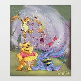 Pooh & Friends - Tigger has gone mad. Canvas Print
