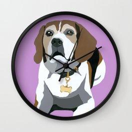 Seamus on pink Wall Clock