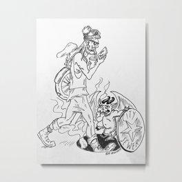 Devil baby versus Hipster Metal Print