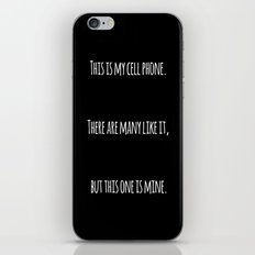 Cell Phone Cover Black iPhone & iPod Skin