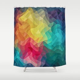 Abstract Color Wave Flash Shower Curtain