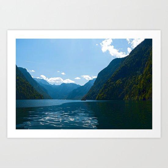 Koenigssee Lake with Alpes Art Print