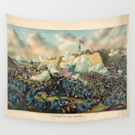 Civil War Capture of Fort Fisher January 15 1865 Wall Tapestry