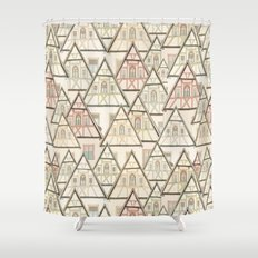 Pattern Houses Shower Curtain