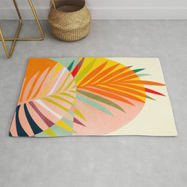 minimal leave tropical spring Rug