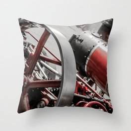 Miniature Traction Engine bywhacky Throw Pillow