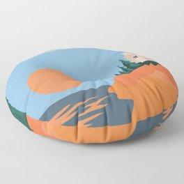 Sea Breeze Sunset In Acadia National Park Floor Pillow
