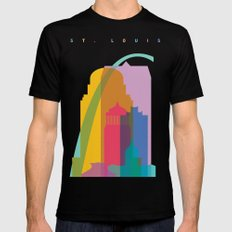 Shapes of St. Louis. Accurate to scale Mens Fitted Tee Black MEDIUM