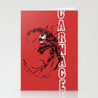 carnage Stationery Cards featuring Carnage by Young Jake