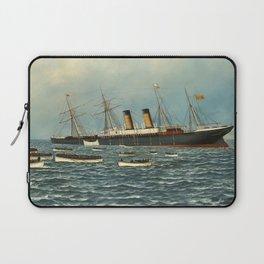 Vintage Illustration of The SS Oregon Sinking (1902) Laptop Sleeve