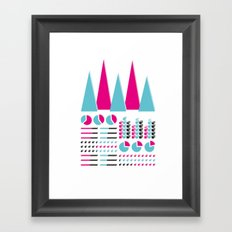 Infographic Selection Framed Art Print