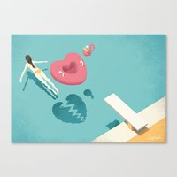 breaking Canvas Prints featuring Breaking by Andrea De Santis