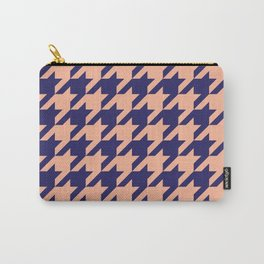 Houndstooth (Blue and Beige) Carry-All Pouch