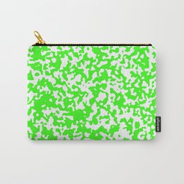 Small Spots - White and Neon Green Carry-All Pouch