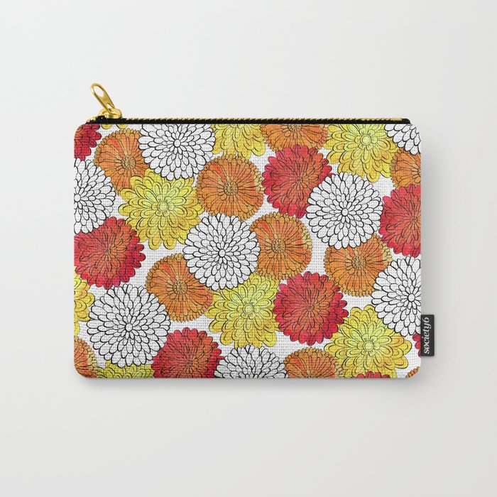 Dahlia Garden Summer Carry-All Pouch
