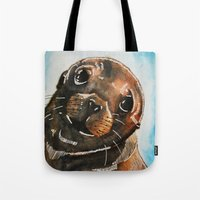 seal Tote Bags featuring Seal by tsquared91