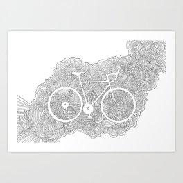Bike Drawing Meditation Art Print