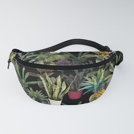 Home jungle picture on black from my own garden for planty people Fanny Pack