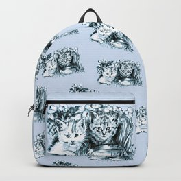 Blue Baby Cats Backpack