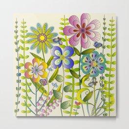 Petty Flowers Pattern 2 Metal Print