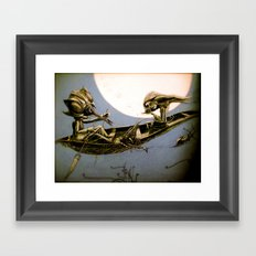 learn to be lonely Framed Art Print