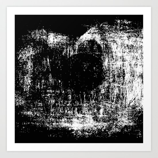 Black & White Abstract Series ~ 5 Art Print