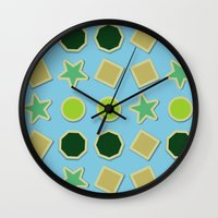 stickers Wall Clocks featuring Shapes stickers by laly_sb