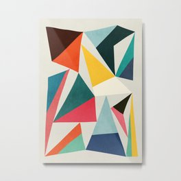 Collection of pointy summit Metal Print