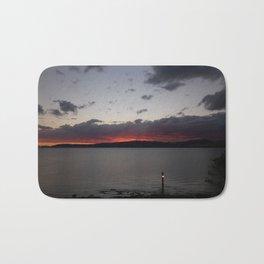 Sunset Over Taupo Bath Mat