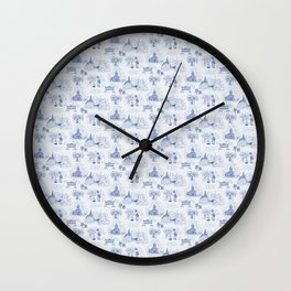 Winnipeg Summer Toile Wall Clock