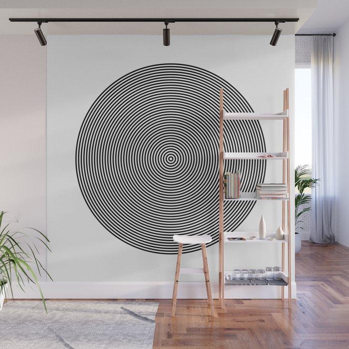 Hypnotic Circles optical illusion Wall Mural by lebensartdesign ...
