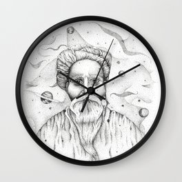 Aim for the moon, land in the stars Wall Clock