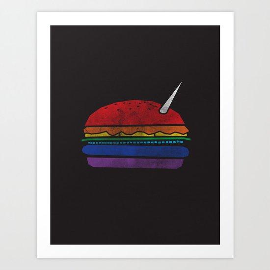 The Last Unicorn Burger Art Print