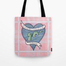 Nessie Valentine Tote Bag