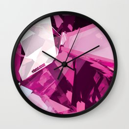 Pink Quartz Royal Stain Wall Clock