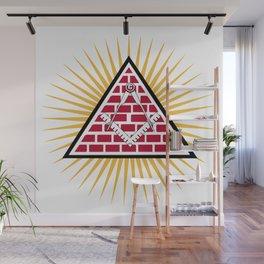 Freemasonry symbol Wall Mural