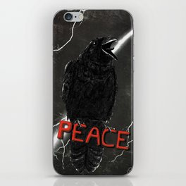 Crow For Peace iPhone Skin