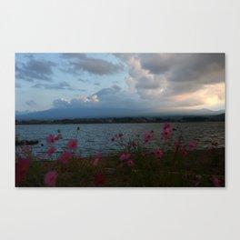 fuji at sunse Canvas Print