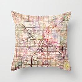 Las Vegas map 2 Throw Pillow